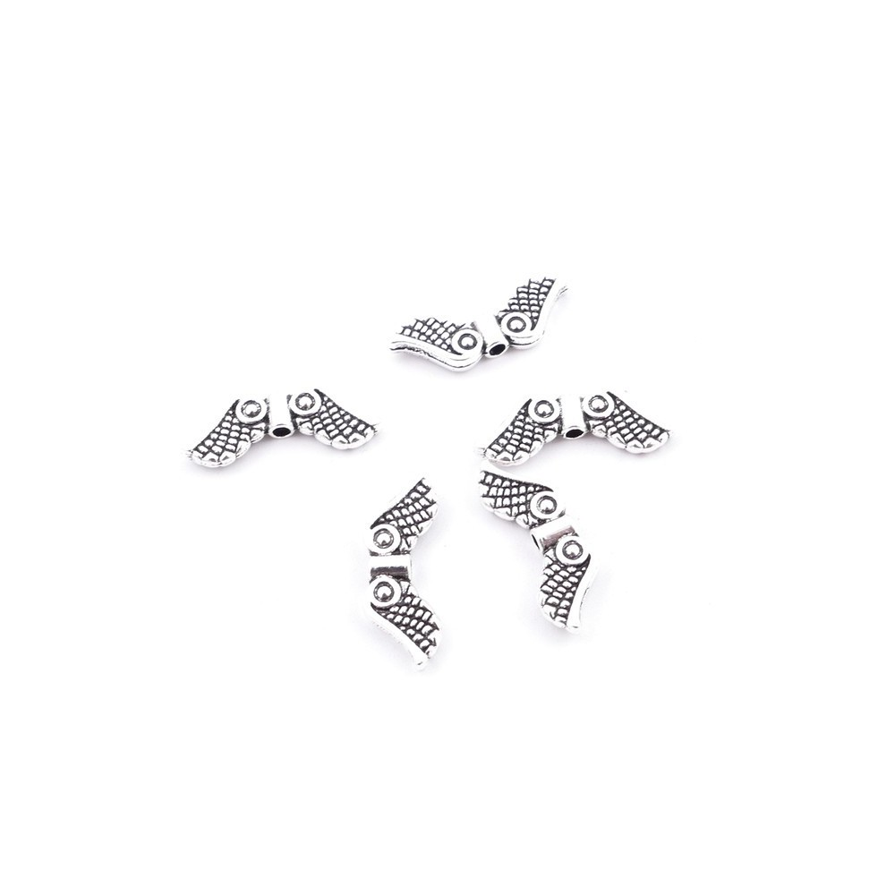 30846-01 PACK OF 25 PCS METAL WINGS FOR JEWELRY 7 X 19 MM