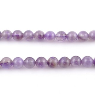40955 40 CM STRING OF 8 MM NATURAL AMETHYST STONE BEADS