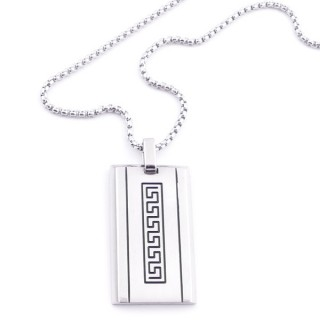 38924 STAINLESS STEEL 49 CM NECKLACE FOR MEN WITH 35 X 20 MM PENDANT