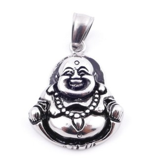38936 BUDDHA SHAPED STAINLESS STEEL 33 X 26 MM PENDANT