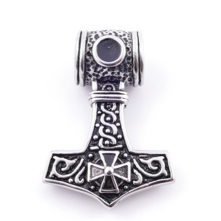 38930 THOR'S HAMMER STAINLESS STEEL 47 X 33 MM PENDANT