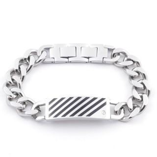 37882 STAINLESS STEEL 22 CM LONG AND 15 MM WIDE BRACELET