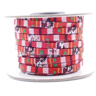 26009-01 ROLL OF FLAT ETHNIC CORD 5 MM X 10 M