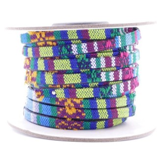26009-11 ROLL OF FLAT ETHNIC CORD 5 MM X 10 M
