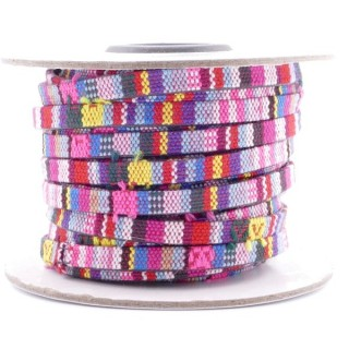 26009-13 ROLL OF FLAT ETHNIC CORD 5 MM X 10 M