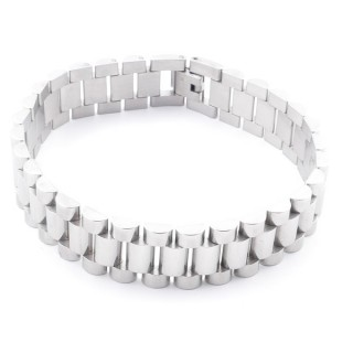 38881 STAINLESS STEEL 23 CM LONG AND 16 MM WIDE BRACELET