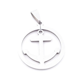 38868-05 ANCHOR SHAPED 30 MM STAINLESS STEEL PENDANT