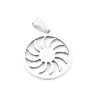 38868-13 STAINLESS STEEL 26 MM SUN SHAPED PENDANT