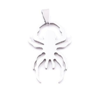 38868-18 STAINLESS STEEL SPIDER SHAPED 38 X 24 MM PENDANT