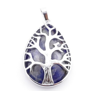 36104-16 TREE OF LIFE 35 X 26 MM PENDANT WITH STONE IN SODALITE