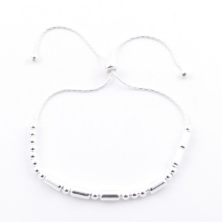 51188 SILVER 925 BRACELET IN MORSE CODE. MEANING: PRINCESS
