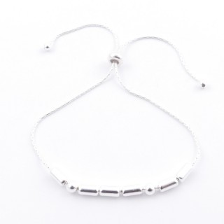 51190 SILVER 925 BRACELET IN MORSE CODE. MEANING: MAMA