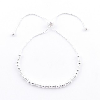 51193 SILVER 925 BRACELET IN MORSE CODE. MEANING: ENDLESS LOVE