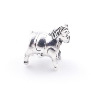 34145 STERLING SILVER HORSE SHAPED BRACELET CHARM 12 X 10 MM
