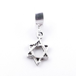 51134 SILVER STAR OF DAVID 8 MM CHARM FOR BRACELET