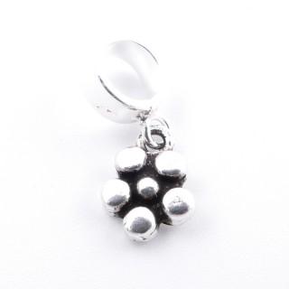 51136 STERLING SILVER FLOWER SHAPED 7 MM CHARM