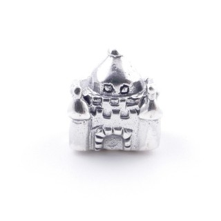 51145 CASTLE SHAPED STERLING SILVER 11 X 10 MM CHARM