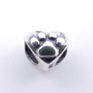 51146 HEART SHAPED STERLING SILVER 7 X 9 MM CHARM