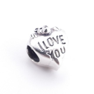 51147 HEART SHAPED STERLING SILVER 12 X 10 MM CHARM