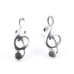 55349 TREBLE CLEF STERLING SILVER 14 X 6 MM EARRINGS