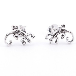 55356 STERLING SILVER 925 POST EARRINGS GECKO 8 X 11 MM