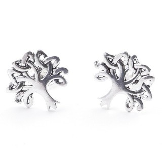 55364 SILVER 925 TRIQUETRA SHAPED 10 X 10 MM POST EARRINGS
