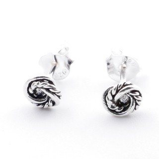 55335 SILVER 925 CIRCLE SHAPED 5 MM POST EARRINGS
