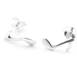 55330 SILVER 925 MUSICAL NOTE SHAPED 10 X 4 MM POST EARRINGS