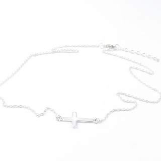 55423 STERLING SILVER 42 CM NECKLACE WITH CROSS