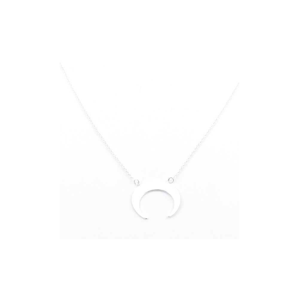 55426 STERLING SILVER 42 CM NECKLACE WITH INVERTED MOON