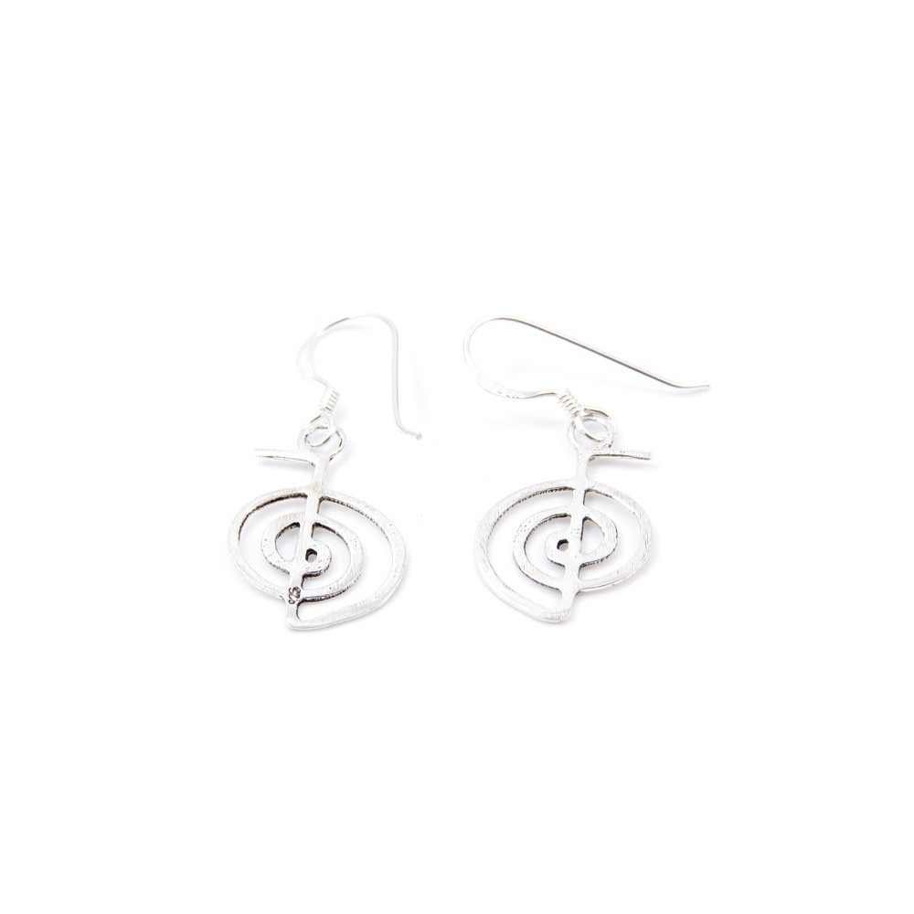 55297 STERLING SILVER CHOKU REI EARRINGS. SIZE: 20 X 13 MM