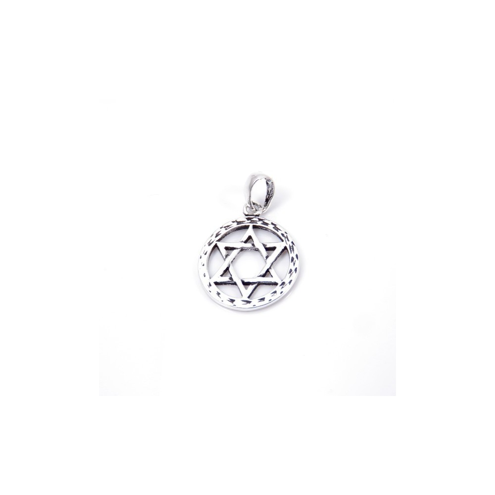 55310 STAR OF DAVID SHAPED STERLING SILVER 15 MM PENDANT
