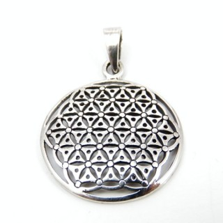 5014 STERLING SILVER FLOWER OF LIFE 26 MM PENDANT