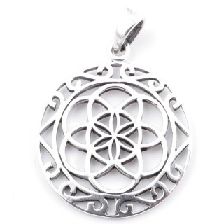 50207 SEED OF LIFE STERLING SILVER 29 MM PENDANT