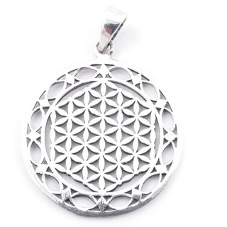50208 STERLING SILVER 925 FLOWER OF LIFE 30 MM PENDANT