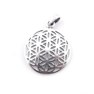 55429 STERLING SILVER 925 FLOWER OF LIFE 19 MM PENDANT