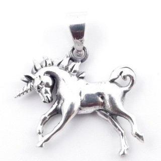 50195 UNICORN SHAPED STERLING SILVER 22 X 25 MM PENDANT