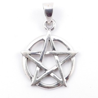 50200 STERLING SILVER 24 MM PENTAGRAM PENDANT