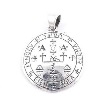 50205-01 SILVER 27 MM PENDANT WITH ARCHANGEL SYMBOL: URIEL