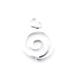 55317 SPIRAL SHAPED 10 MM DIAMETER STERLING SILVER PENDANT