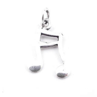 55315 MUSICAL NOTE STERLING SILVER 16 X 9 MM PENDANT