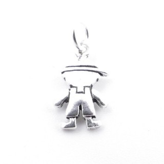 30307-01 BOY SHAPED PENDANT IN 925 SILVER. SIZE: 13 X 7 MM