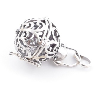 52079-02 STERLING SILVER CAGE FOR ANGEL CALLER BALL 24 X 19 MM