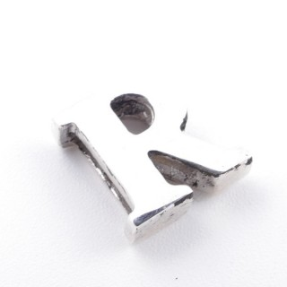 55428-18 STERLING SILVER 10 MM LETTER SHAPED CHARM: R