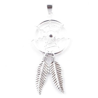 52078-04 STERLING SILVER DREAM CATCHER 40 X 16 MM PENDANT
