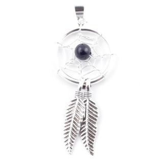 52078-03 STERLING SILVER DREAM CATCHER 40 X 16 MM PENDANT