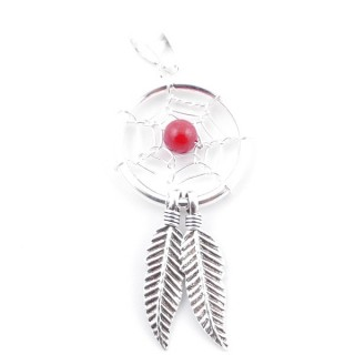 52078-01 STERLING SILVER DREAM CATCHER 40 X 16 MM PENDANT