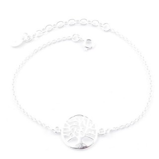 52083 SILVER 925 15 + 4 CM BRACLET WITH TREE OF LIFE CHARM