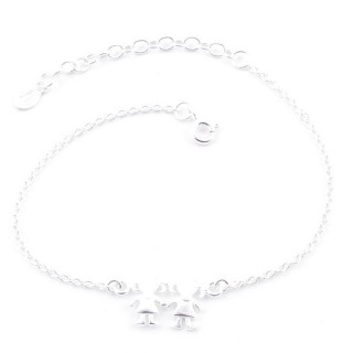 52085 SILVER 925 15 + 4 CM BRACLET WITH GIRLS CHARM