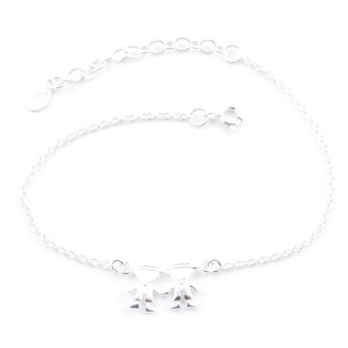 52086 SILVER 925 15 + 4 CM BRACLET WITH BOYS CHARM